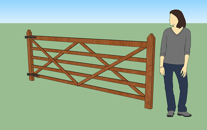 how to make rising gate hinges